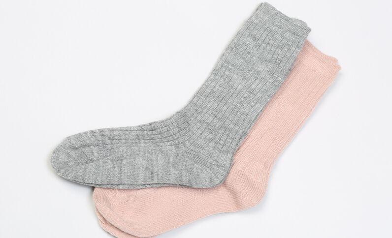Lote de calcetines acanalados marrón claro
