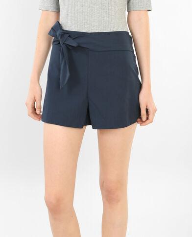 Shorts de talle alto azul marino