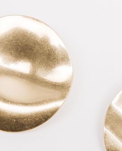 Pendientes disco dorado
