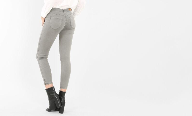 Skinny-Hose mit Reißverschluss Anthrazitgrau