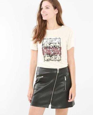 Camiseta estampada crudo