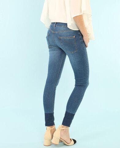 Ungebleichte Skinny-Jeans mit Beinen ohne Abschluss Denimblau