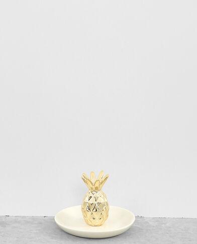 Piccola svuotatasche ananas dorato