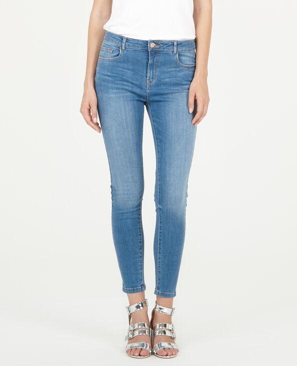7/8-skinny jeans denimblauw