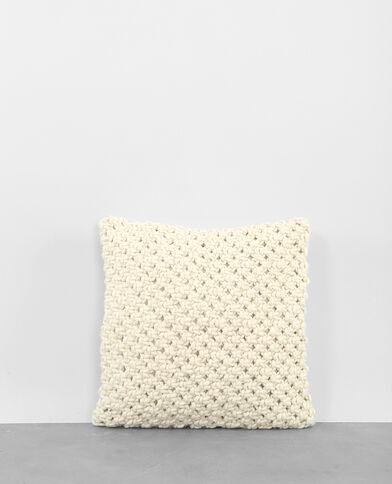 Federa per cuscino tricoté écru