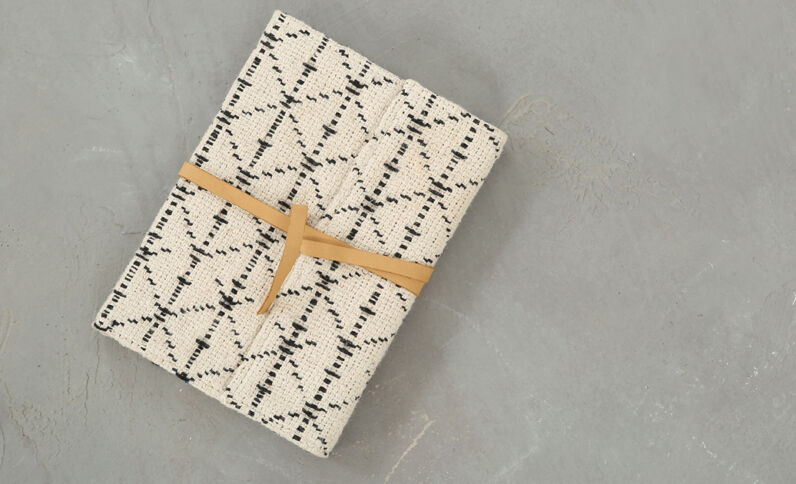 Notebook mit Jacquard-Muster Marineblau