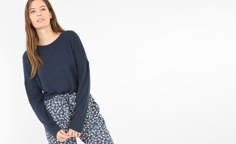 Homewear trui indigoblauw