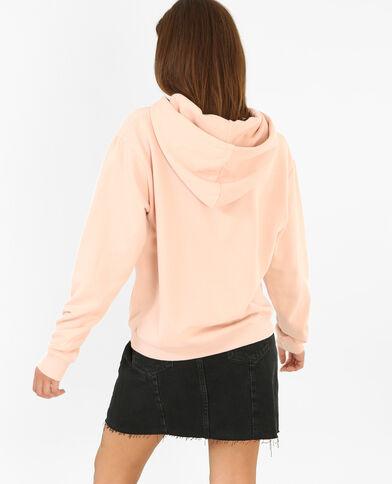 Sweater met capuchon roze
