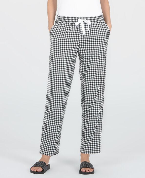 Pantalón homewear vichy negro