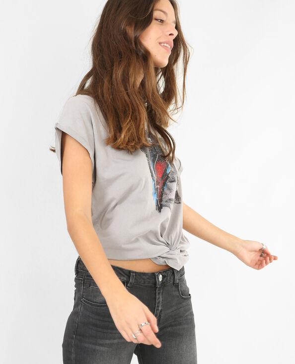 T-shirt David Bowie grigio