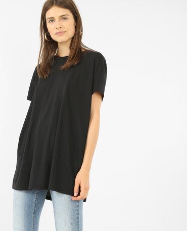 Camiseta oversize de manga corta negro