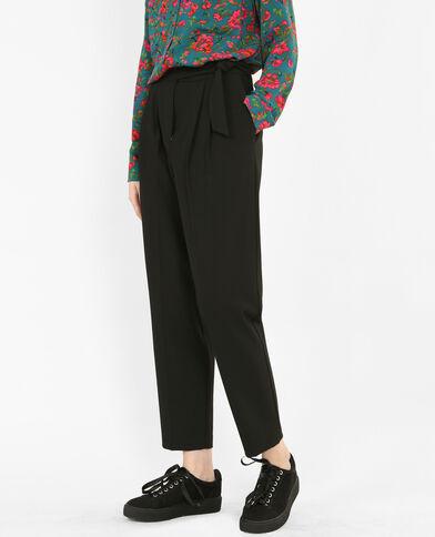 Pantalón carrot negro