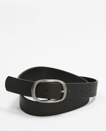 Cintura fibbia ovale nero