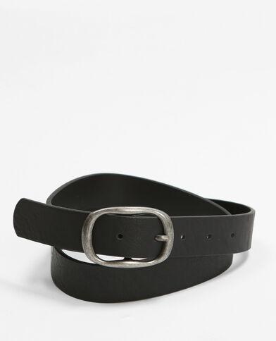 Cinturón con hebilla ovalada. negro