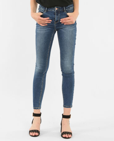 Jean skinny push up bleu denim