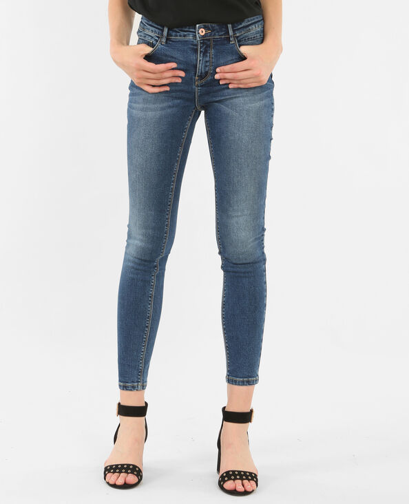 Jeans skinny push up blu denim