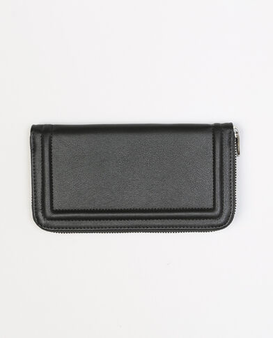 Portafoglio con bordo in rilievo nero