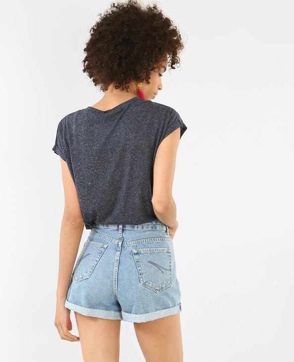 T-shirt à manches courtes bleu marine