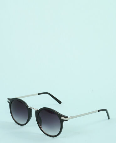 Retro zonnebril zwart
