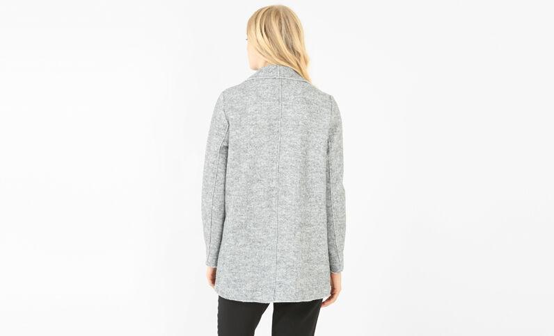Warme Jacke mit Zipfeln Grau