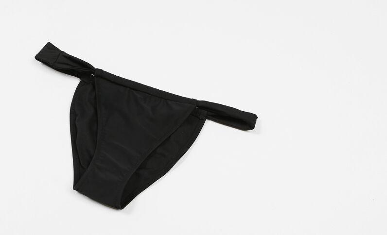 Bas de maillot de bain à liens noir
