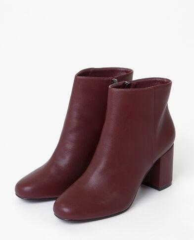 Boots à talons recouverts grenat