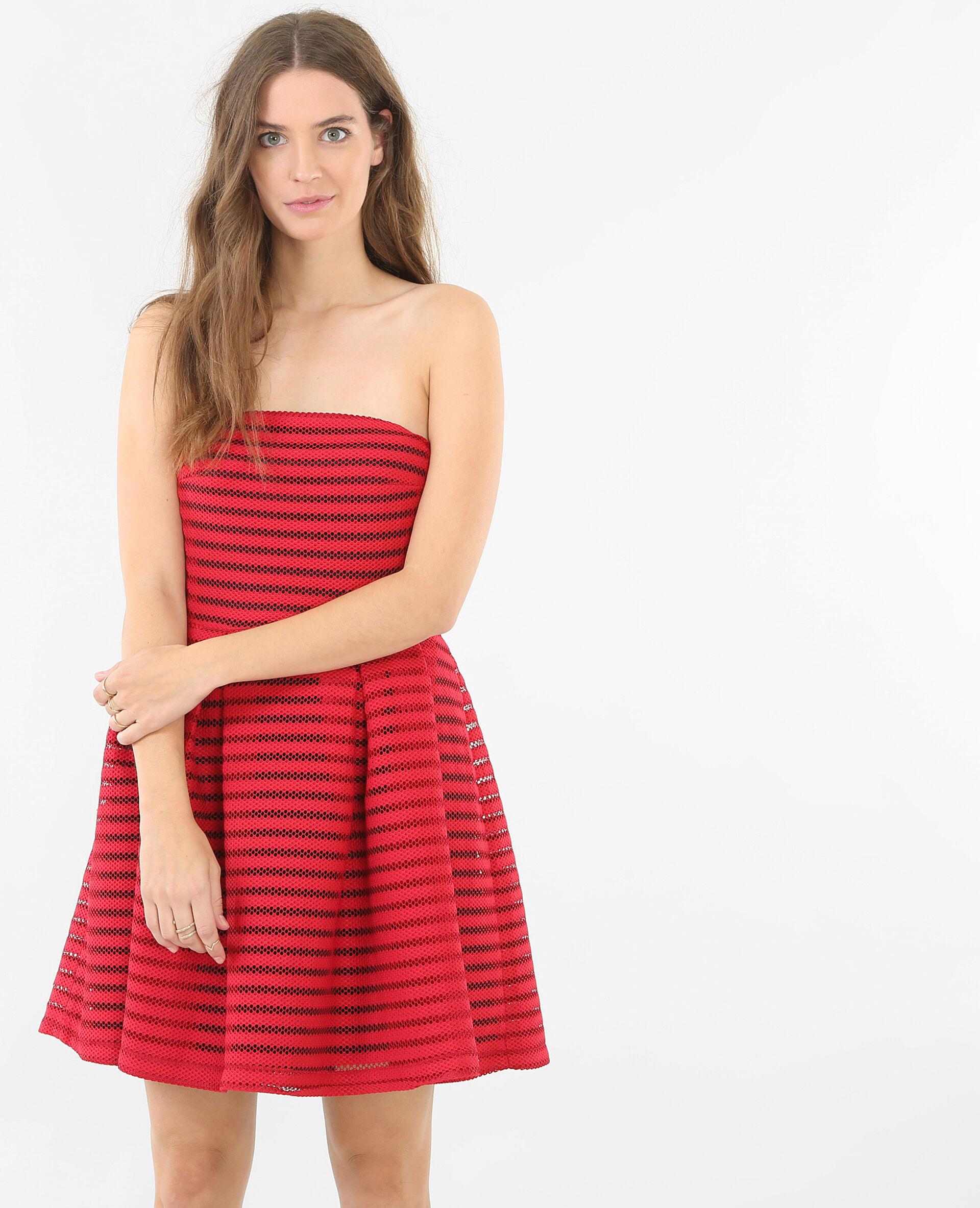 Robe bustier rouge pimkie