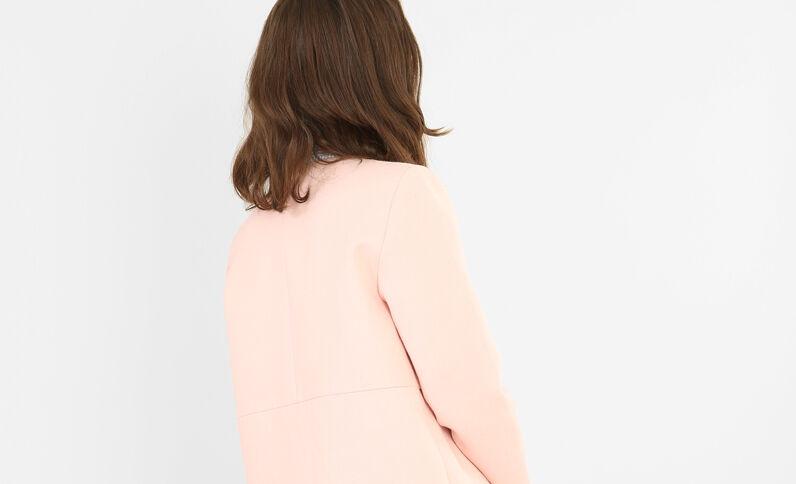 Summer coat con cremallera rosa