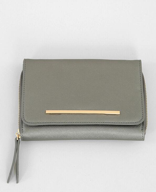 Micro sac pochette silver gris