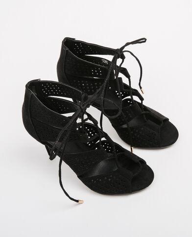 Sandalias con cordones negro