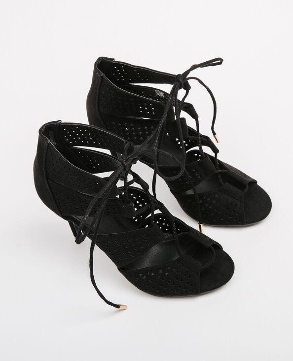 Sandalen met veters zwart