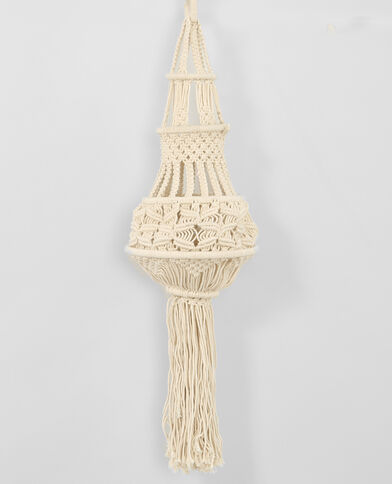 Suspension macramé blanc