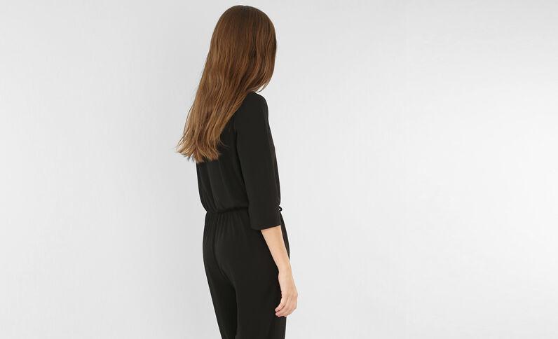 Abito pantalone incrociato nero
