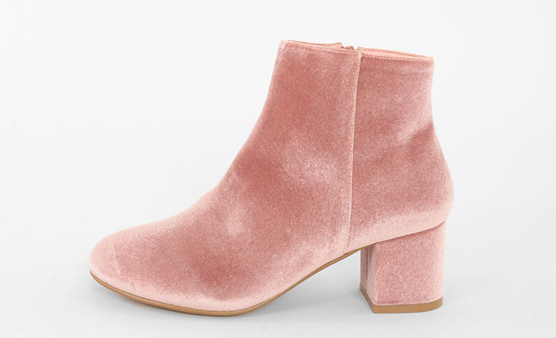 Boots velluto rosa