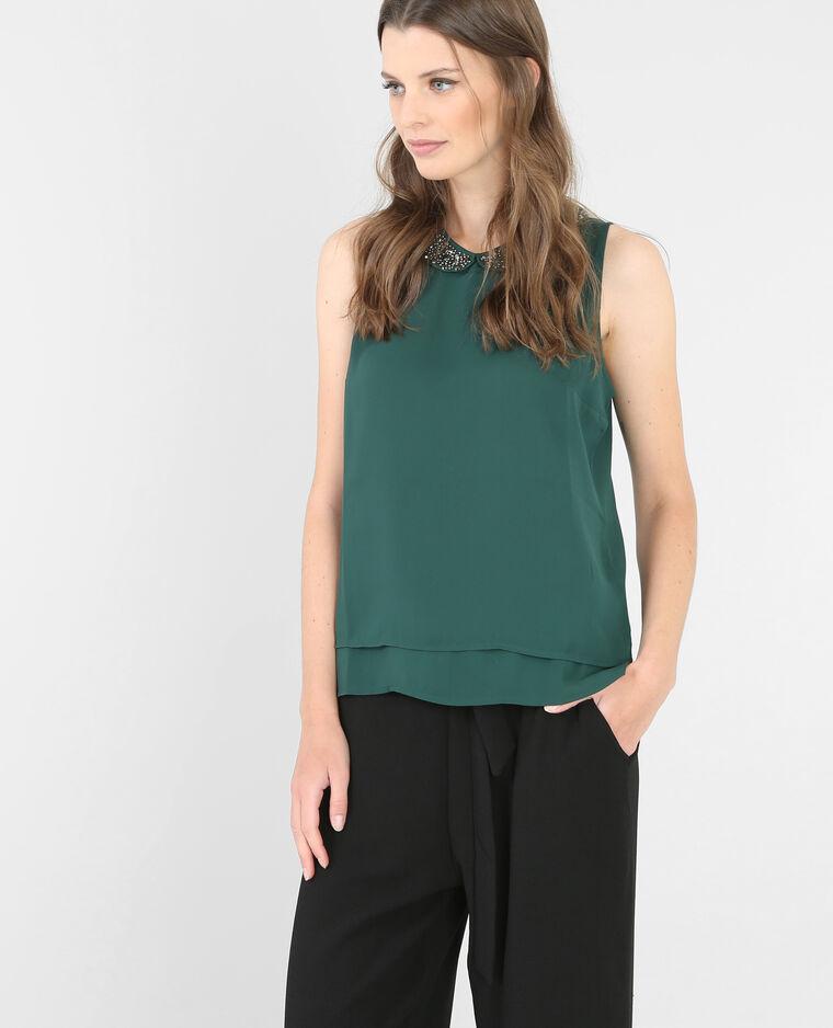 bluse mit schmuck kragen smaragdgr n 567092c24f4a pimkie. Black Bedroom Furniture Sets. Home Design Ideas