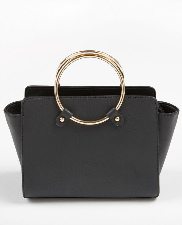 Kleine Tasche in Trapez-Form Schwarz