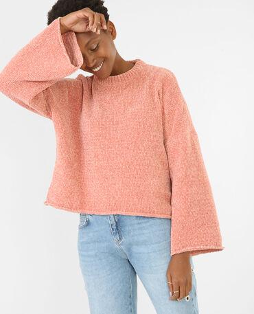 Jersey mangas evasé rosa