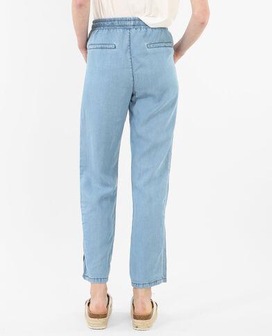 Pantalone da jogging morbido blu denim