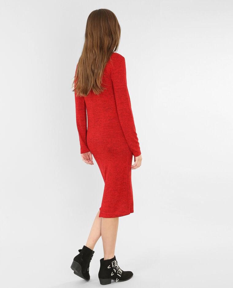 Langes Pulloverkleid Rot