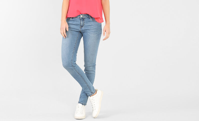 Pantalón skinny azul