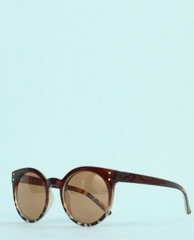 Gafas de sol ojos de gato marrón