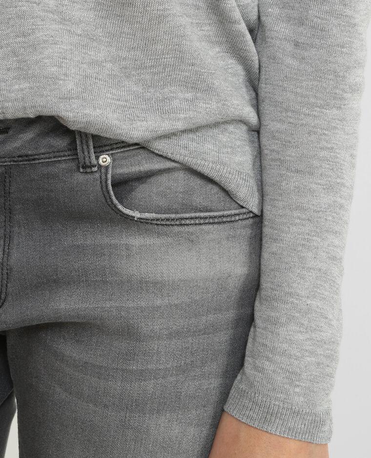 Pullover mit Verzierung aus Spitze Grau meliert
