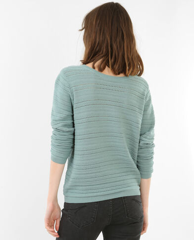 Pullover mit Ajour-Muster Grün