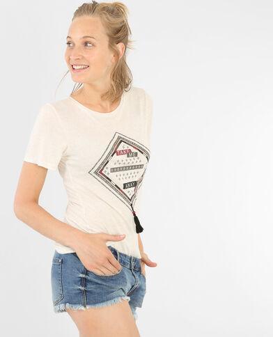T-shirt fantaisie écru