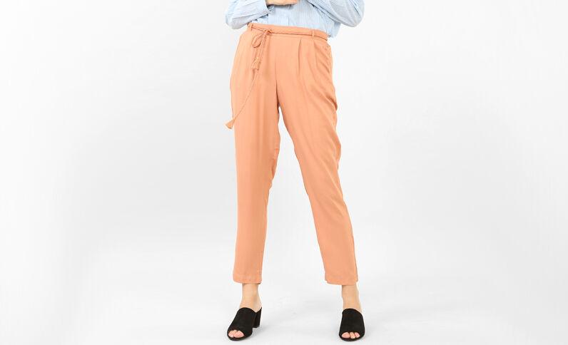 Pantalon fluide marron
