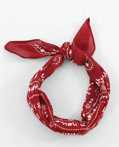 Bandana roja rojo