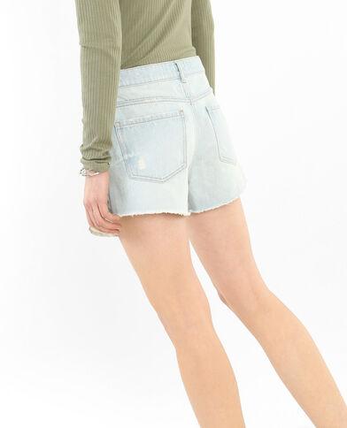 Shorts denim destroy azul claro
