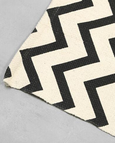 Teppich im Graphic-Look Schwarz