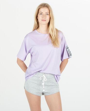 T-shirt de sport violet
