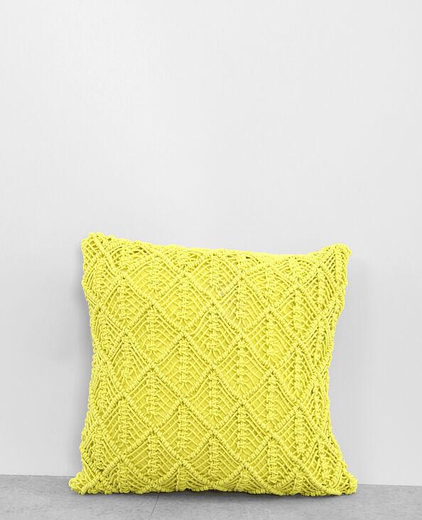 Federa per cuscino macramè giallo